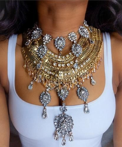 Isis Vintage Multi-layer Statement Choker Necklace for Women