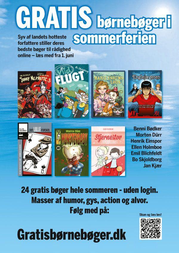 Sommerplakat 2016klar til download Så er vores spritnyeA3 'print selv-plakat' med sommerfriske titler klar til download. Hæng plakaten op, overalt hvor den bliver set af læselystne bø…