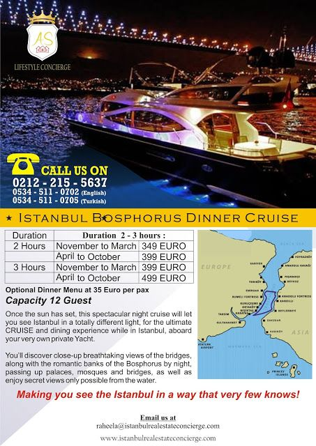 AS Lifestyle Concierge and Real Estate Services Ltd. Sti.: Istanbul Bosphorus Dinner Cruise