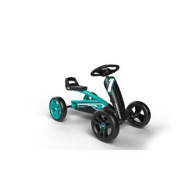 BERG Buzzy Racing skelter - turquoise  Op deze BERG Buzzy Racing skelter kan jouw kleintje spelenderwijs de omgeving ontdekken. De skelter is gemakkelijk af te stellen op de lengte van het kind.  EUR 119.99  Meer informatie