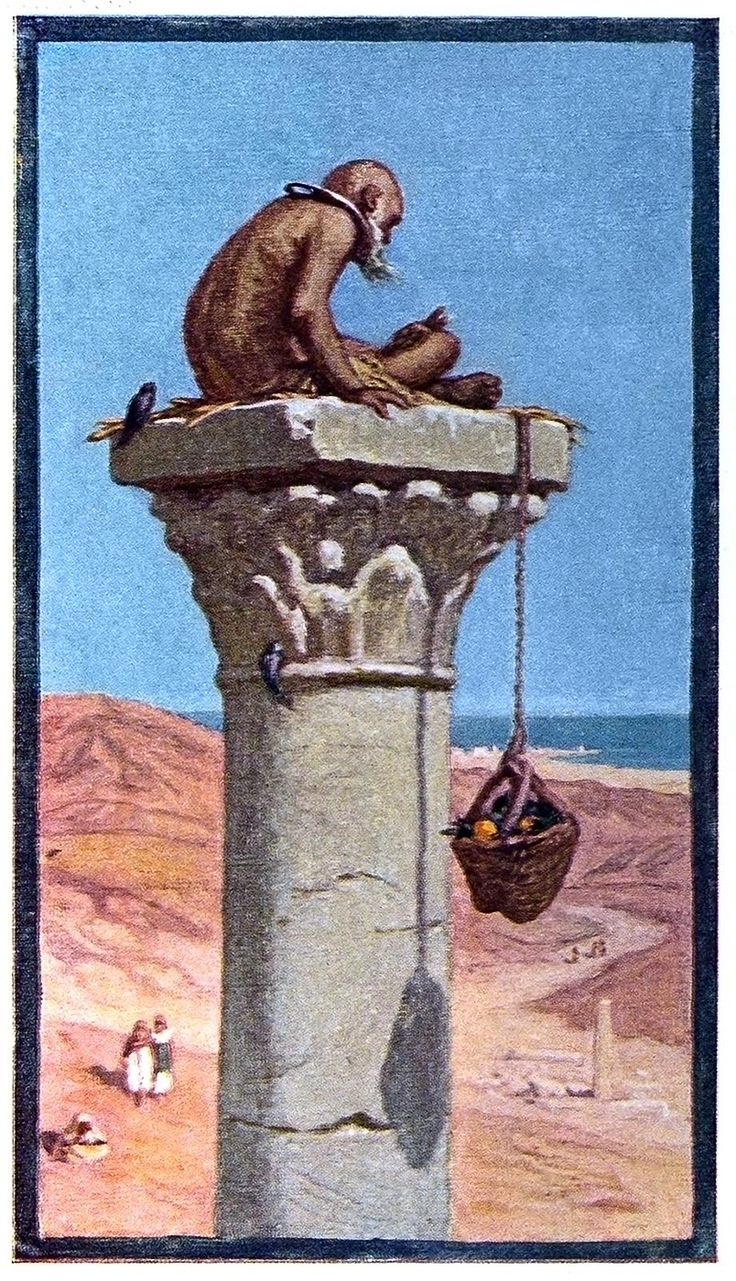 St. Simeon Stylites. Elihu Vedder, from The digressions of V., London, Boston, 1911.