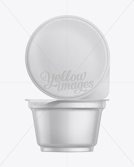170g Yogurt Cup With Foil Lid Mockup