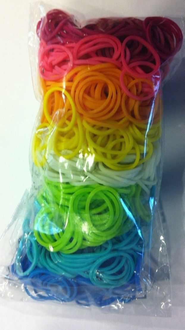 rainbow+loom+bands | Rainbow Loom Custom Mix Rainbow 1 400 Rubber Bands C Clips Bracelet ...