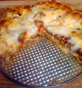 Low Carb Deep Dish Pizza | The Baby Granny Chronicles