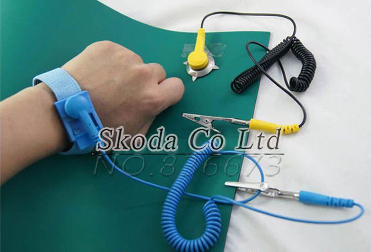 Envío Gratis Antiestático Mat 400*300*2mm Manta Antiestática ESD Mat Para Trabajos de Reparación + Cable de tierra + Pulsera