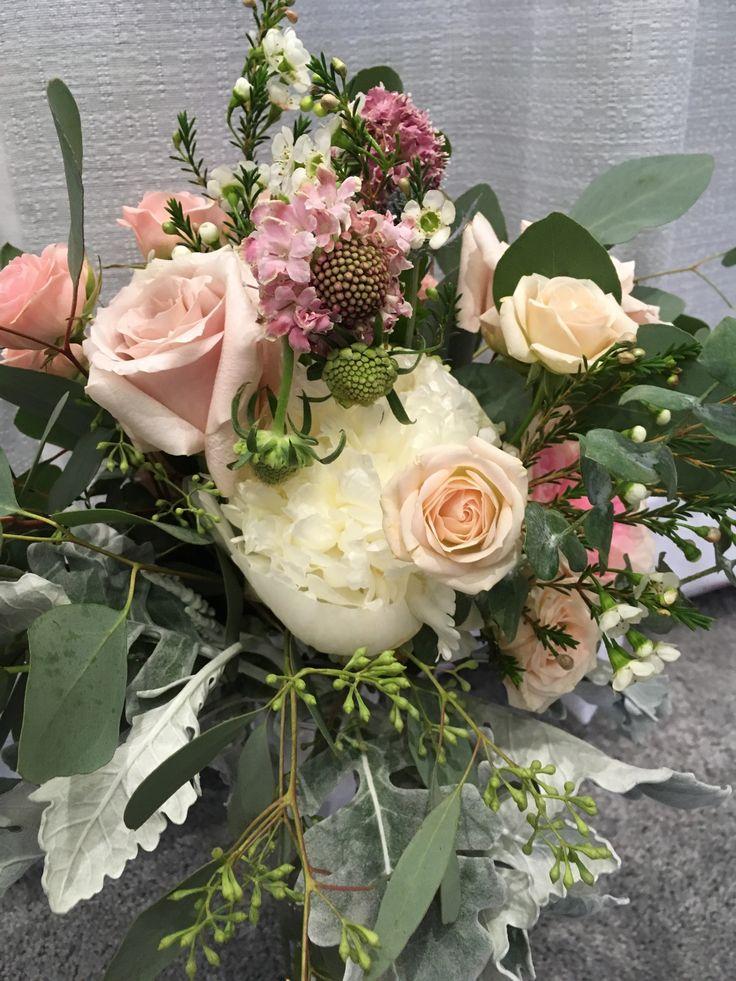 Peonies, Garden Roses, Scabiosa