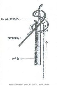Make a bow and arrow
