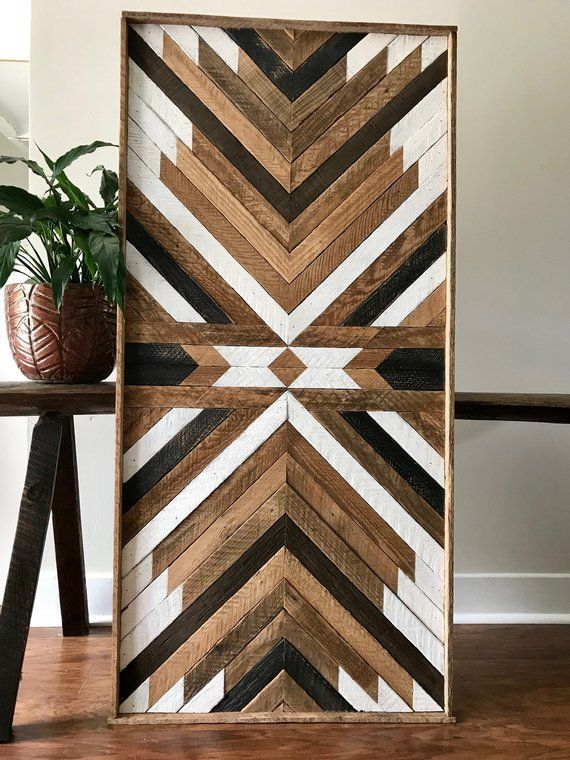 Reclaimed Wood Wall Art Wood Wall Art Reclaimed Wood Wood | Etsy #WoodProjects