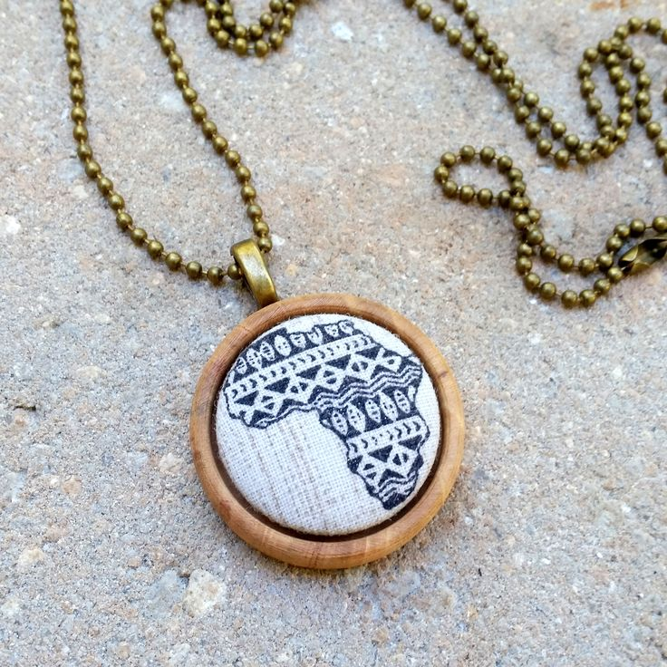 Abyssinia ~~ Natural Oak Wood Necklace