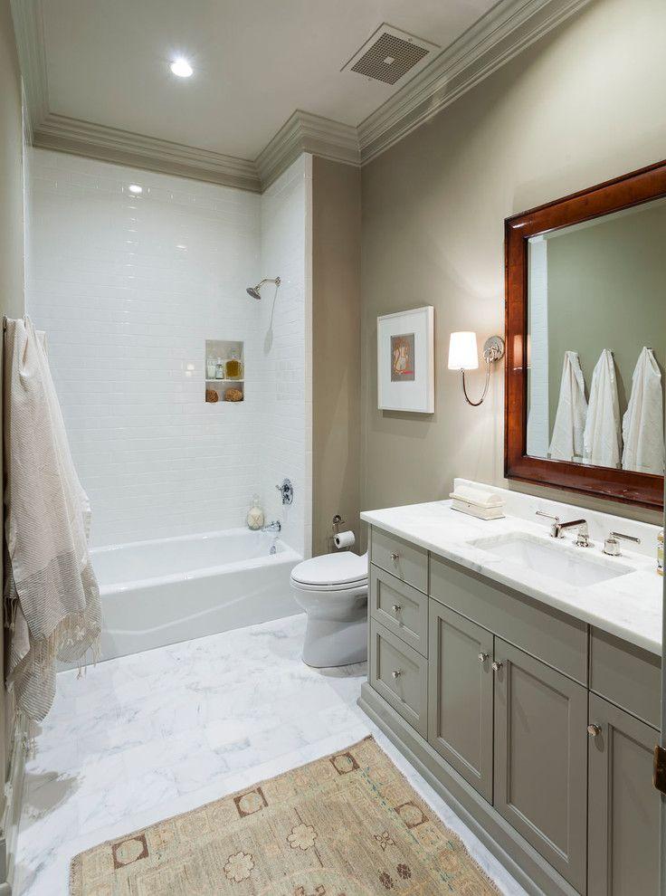 Grey Bathroom Vanity With Beige Wall Decorating Grey