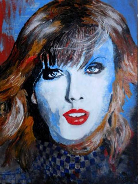 taylor swift: by holger 60x45cm acrylic on canvas