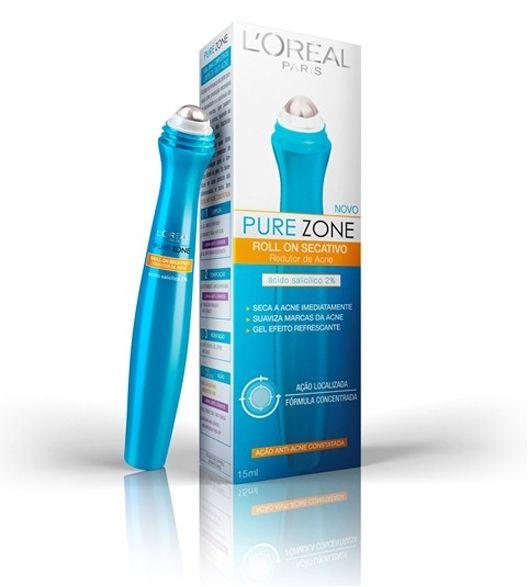 Pure Zone Loreal Roll On Gel Secativo 15ml O roll on da L'oréal Paris é um secativo redutor de acnes, que suaviza marcas e proporciona efeito refrescante. Sua fórmula concentrada em álcool e ácido salicílico a 2%, acelera o processo de secagem da acne. Fórmula transparente, não oleosa e de rápida absorção. Com aplicador inovador, suaviza imediatamente as imperfeições relacionadas à acne deixando a pele com sensação refrescante imediata.