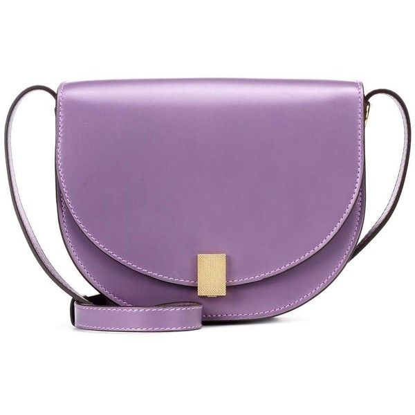 Victoria Beckham Mini Half Moon Box Shoulder Bag ($1,205) ❤ liked on Polyvore featuring bags, handbags, shoulder bags, purple, shoulder bag handbag, mini purse, shoulder hand bags, victoria beckham purses and lilac handbag
