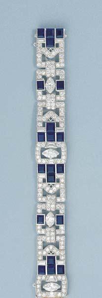 rubies.work/... An Art Deco Diamond and Sapphire Bracelet