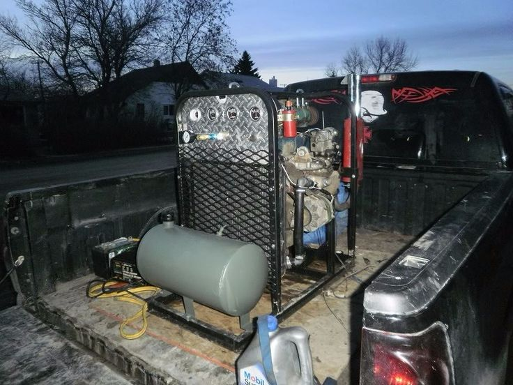 Portable Welder by MilitiaMetals -- Homemade portable welder featuring an integrated air compressor. Constructed from a 74 HP engine, 24V 200A aviation generator, and a 2000W inverter. http://www.homemadetools.net/homemade-portable-welder-3