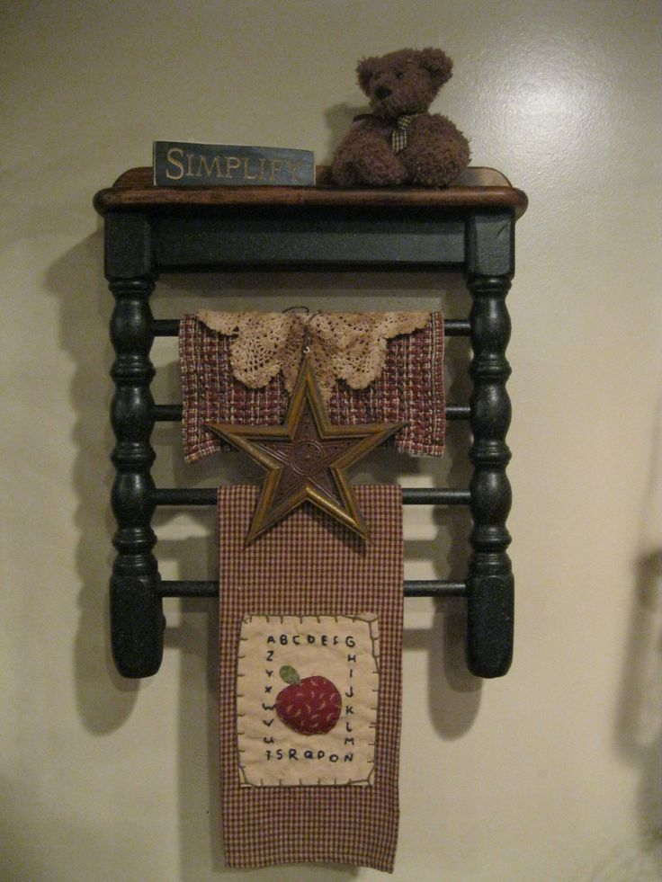 Chair Shelf by Primitive Country Treasures  https://www.facebook.com/pages/Primitive-Country-Treasures/100991083354848 #PrimitiveCountryDecorating