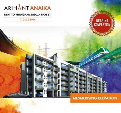 Arihant Anaika - Affordable housing in half the price of Kharghar Next to Kharghar, Taloja Phase II 1,2 & 3 BHK - Riverside County Mesmerising Elevation www.asl.net.in/arihant-anaika.html #ArihantAnaika #RealEstate #Kharghar #NaviMumbai #Property