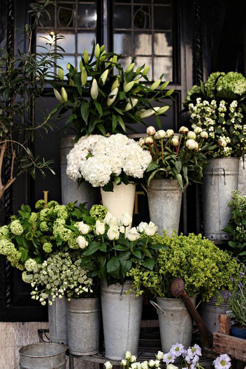 Green and white blooms to mark the end of a splendid summer. #GreenFingers #TheJewelleryEditorLoves