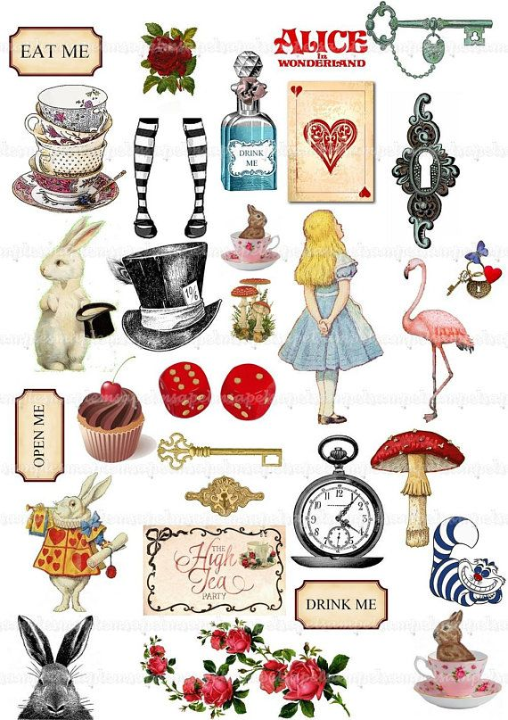 Alice In Wonderland Clipart Alice Clip Art Watercolor Mad Hatter