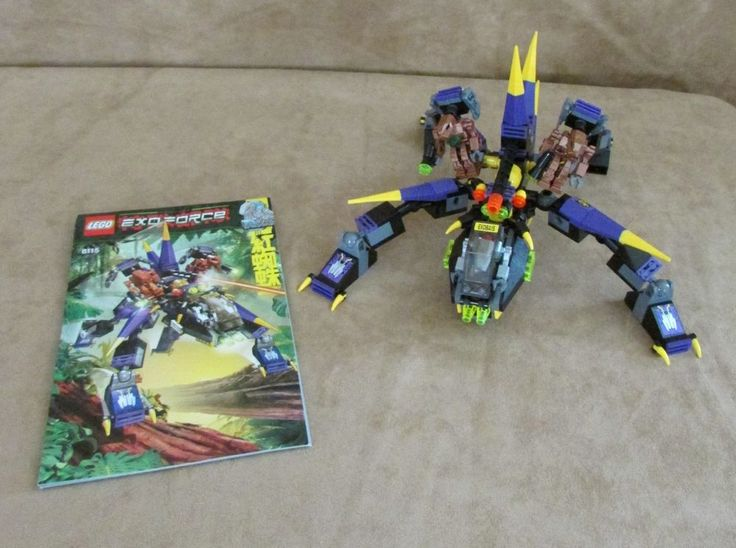 8115 Lego Exo-Force The Robots Dark Panther Complete instructions droid #LEGO