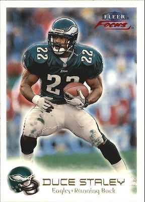1999 Fleer Focus Philadelphia Eagles Football Card #53 Duce Staley