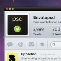 #tutorial Create a Clean Twitter App Interface in Photoshop