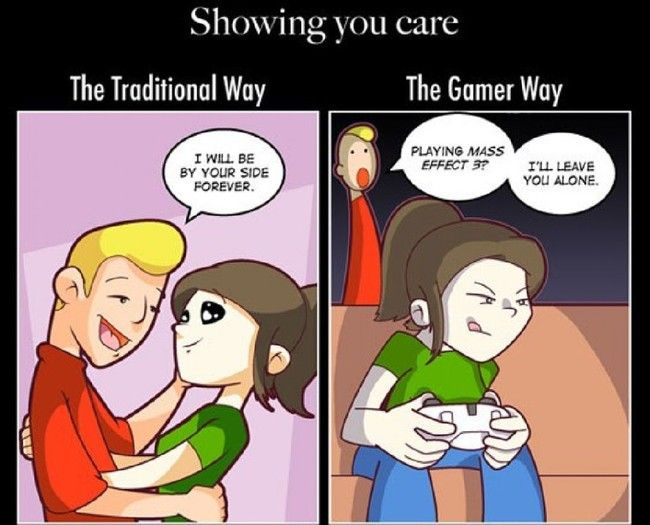 relationship of gamers couple