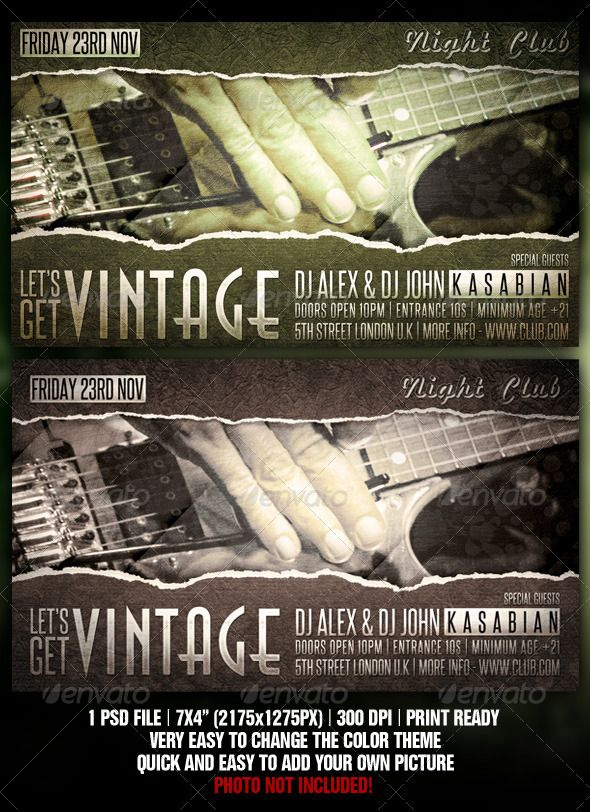 178 best Flyer \/ Poster Design images on Pinterest Cars, Flyers - retro flyer templates
