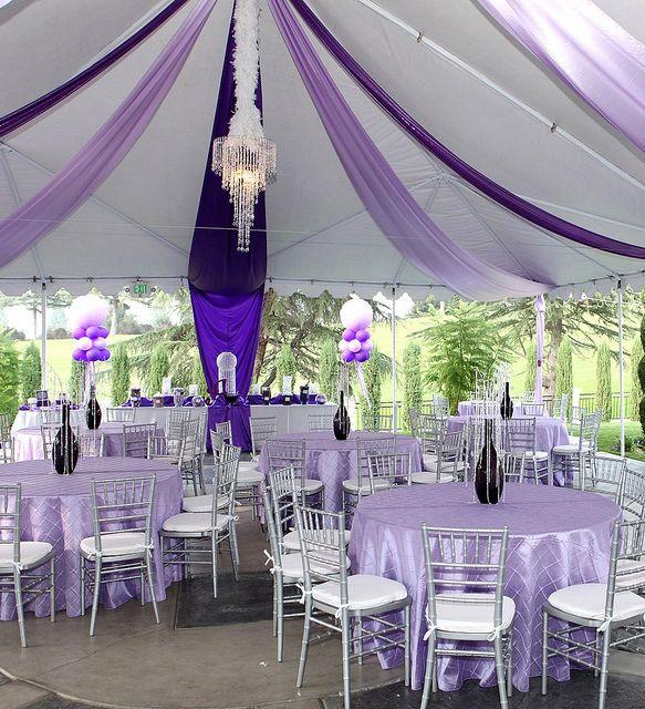 Purple Tent Ceiling Decor, via Flickr.