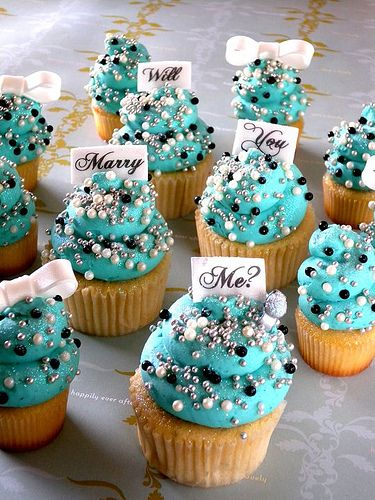 Will You Marry Me Cupcakes