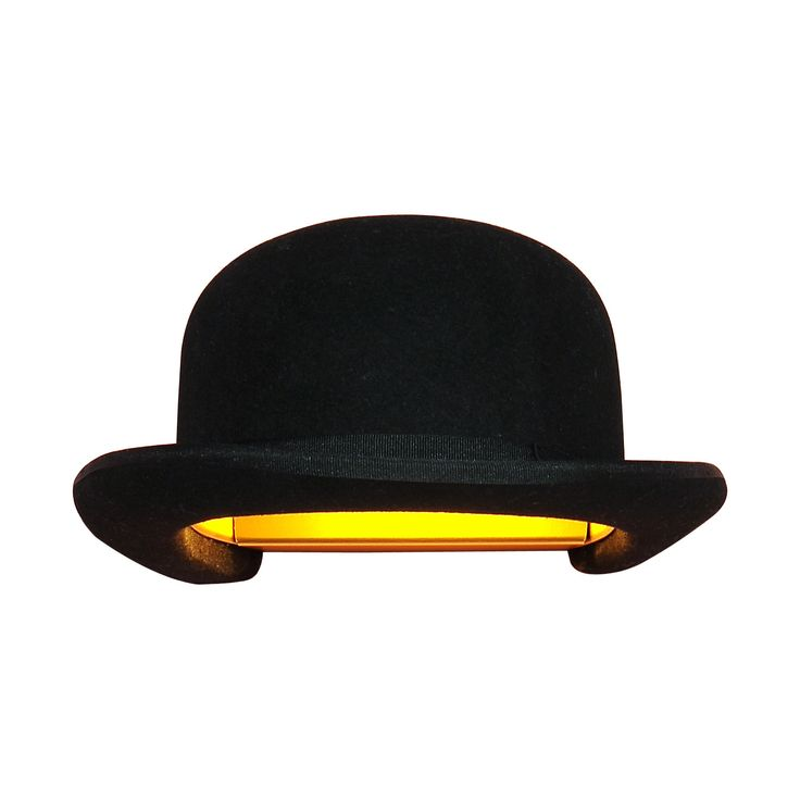 Jeeves Bowler Hat Wall Lamp Shade by Innermost – Funky Lamp Shades