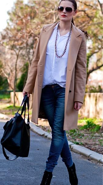 Ted Baker - coat, Calvin Klein - watch, Mango - sunglasses