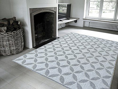 "Jardin Collection Grey Contemporary Star Design Indoor / Outdoor Jute Backing Area Rug (5'3""x7'3"") Lattice Area Rug, http://www.amazon.com/dp/B00ZYEHA2S/ref=cm_sw_r_pi_awdm_dAsOwb1R3WNMM"