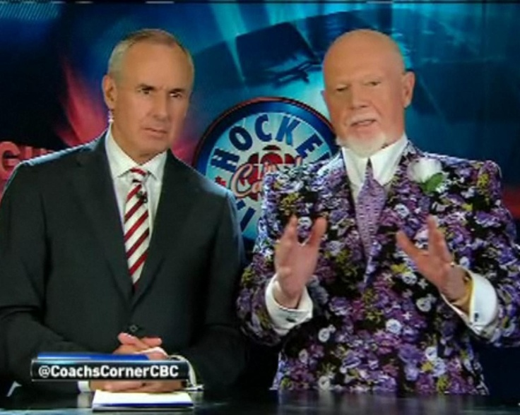Grapes is looking positively spring-like during Game 3. (CBC)