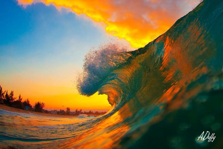 Breaking wave on sunrise  Www.adamduffyphotography.com