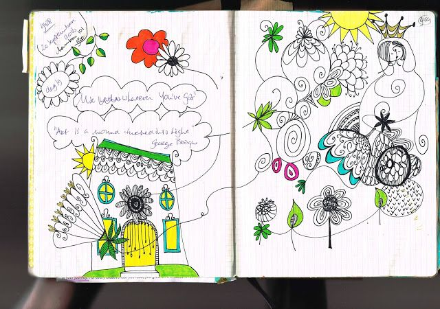 mariska eyck: doodling and meditation