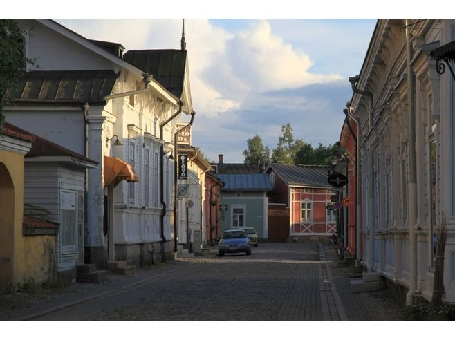 An old part of Rauma , FINLAND
