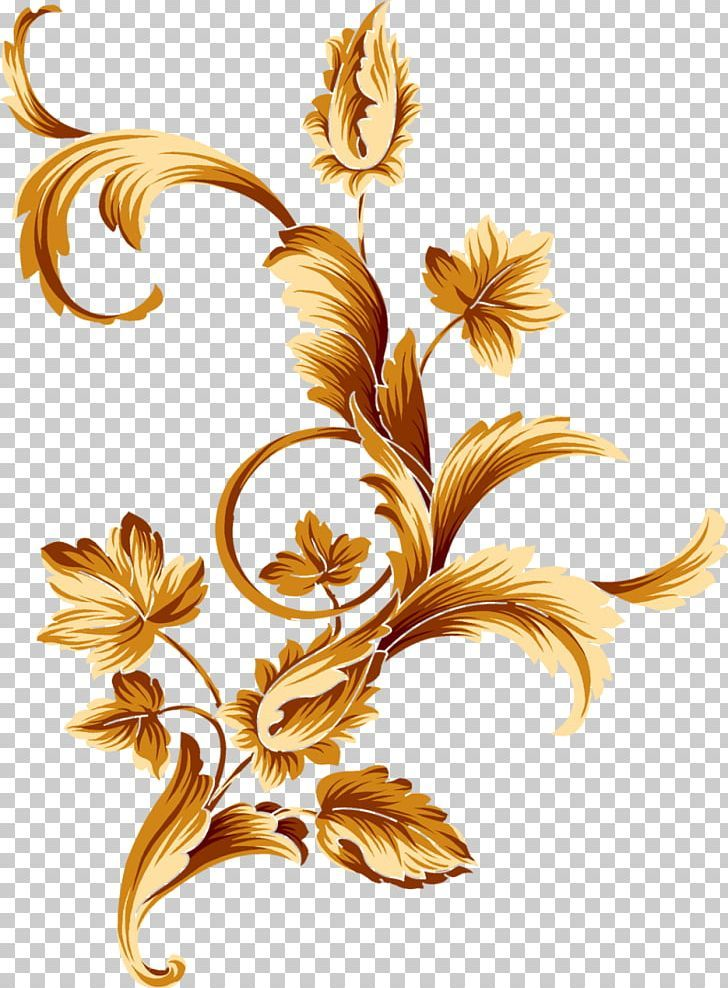 Flower Gold Color Png Border Clip Art Color Flora Floral Design Gold Border Design Digital Print Fabric Gold Color