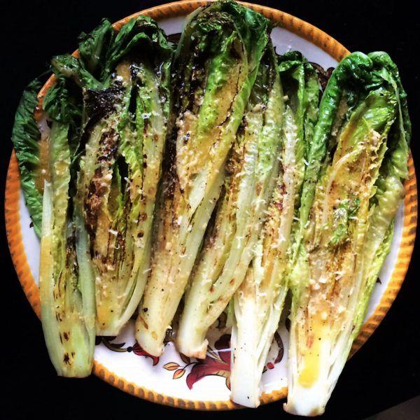 Insalata Romana alla griglia | Grilled Romaine Salad... perfect for the summer! by Patricia for CASAGIOVE www.casagiovecalifornia.com