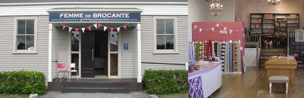 Christchurch, NZ. Femme de Brocante Fabulous place to buy fabrics for your home...AND Annie Sloan Paint