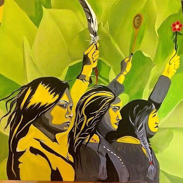 aapremlall:Today is Missing and Murdered Indigenous Women Day. This is an acrylic painting Angela Serritt did & image she designed(with persimmon from Rinelle Harper) to honour #MMIW #valentines #love #f14 #howwedisappear #indigenous #missingwomen #feminist #feministasfuck #feministmovement #feminism #dontleaveyoursistersbehind #Aborigines #sisterhood #galentinesday #neverforget