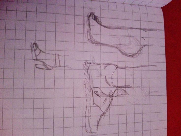 Drawing foot ..[: