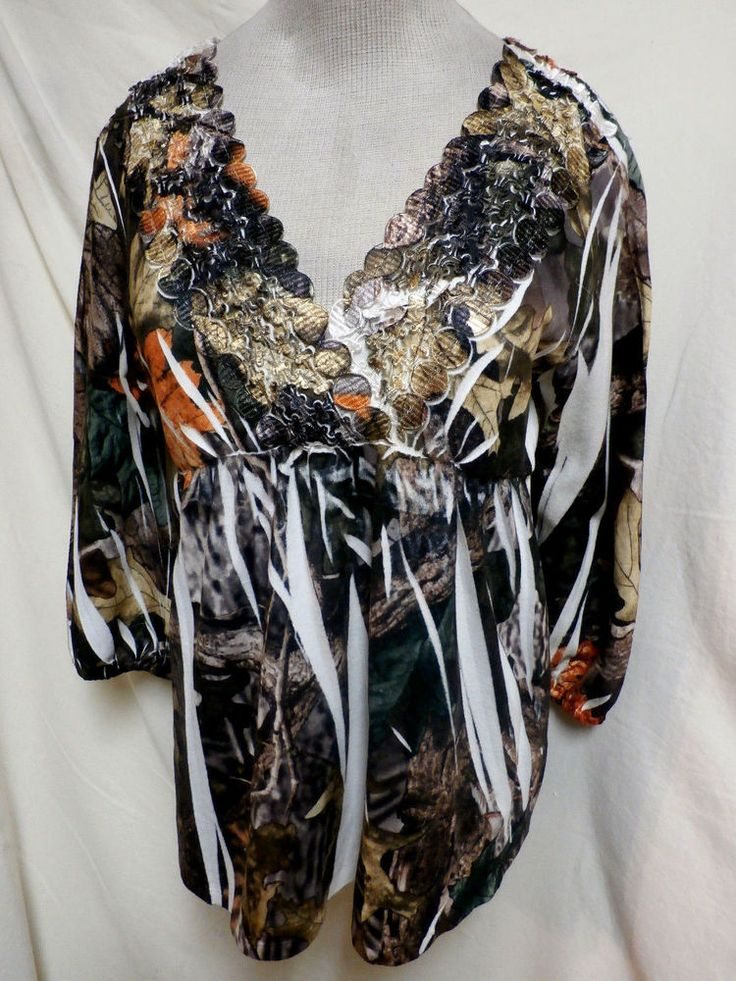 Simply Irresistible EUC Fall Colored Leaves Embellished Top XL #SimplyIrresistible #KnitTop