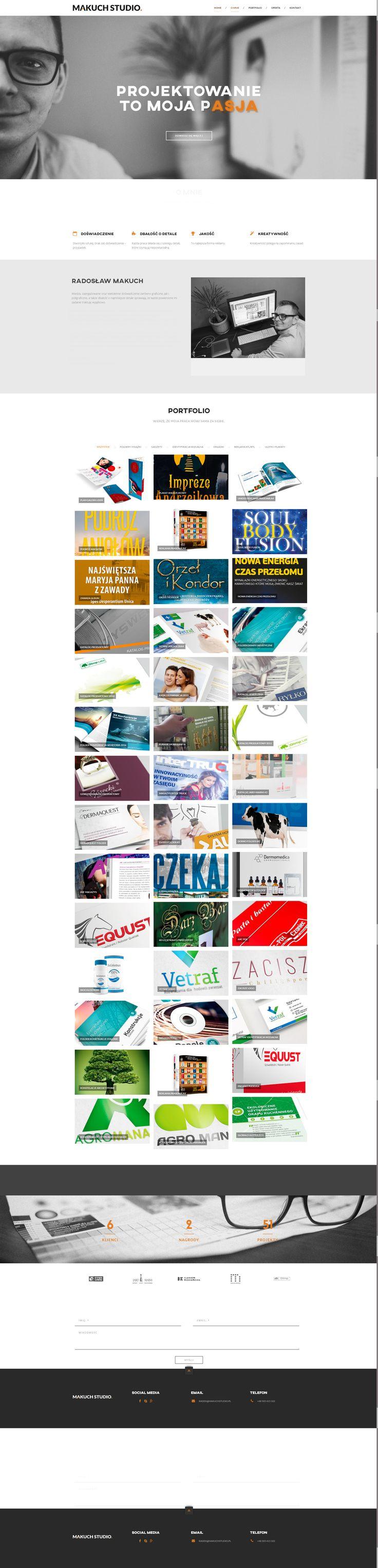 Makuch Studio - strona internetowa #wordpress #stronywww