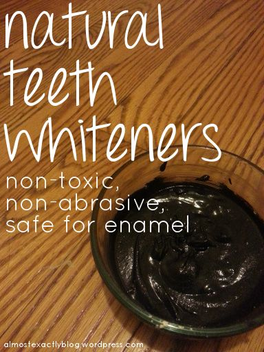 The good & bad natural products to whiten teeth. Definitely glad I read this before using baking soda and hydrogen peroxide