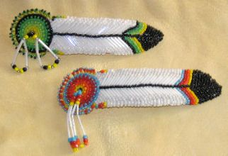 beaded barrette | Beaded Hair Barrettes