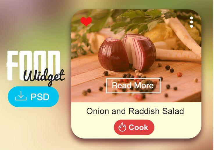 Food Widget Design