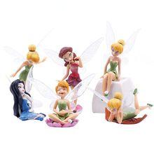 6 Unids/set Flor Duendecillo de Hadas Figurines Estatuilla En Miniatura Casa de Muñecas Decoración de Adornos de Jardín(China (Mainland))