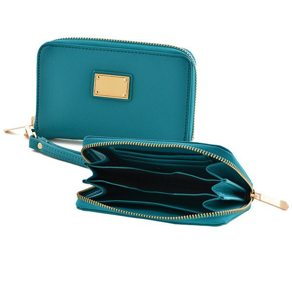 Mini Wristlet In Teal