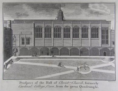 Prospect of the Hall of Christ - Church, formerly Cardinal College, Oxon, from the great Quadrangle. | Sanders of Oxford